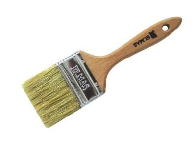 Elmas Fırça - Ahşap Saplı Lüx Kestirme Fırçası No 1