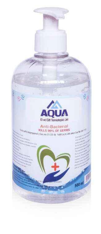 aqua el ve cilt dezenfektani jel 500 ml