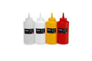 Bora Plastik - Bora BO2100 Ketçap Mayonez Şişe Kapaklı 420 ml Şeffaf (1)