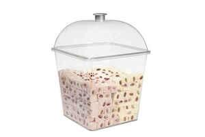 Bora Plastik - Bora BO360 Pasta Kek Kabı Kare Derin Takım Polikarbonat (1)