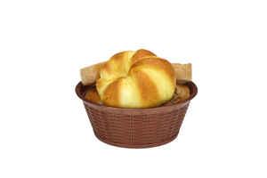 Bora Plastik - Bora BO659 Hasır Desenli Ekmek Sepeti Yuvarlak 19,5 Cm