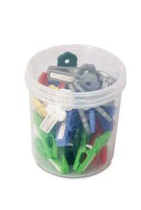 Bora Plastik - Bora BO686 Plastik Mandal Desenli 24 Adet