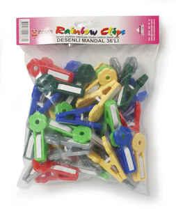 Bora Plastik - Bora BO688 Plastik Mandal Desenli 36 Adet