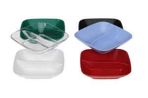 Bora Plastik - Bora BO726 Polikarbonat Sos Kabı Bölmeli Kare