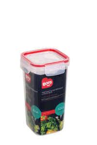 Bora Plastik - Bora BO894 Saklama Kabı Kare 1.2 Litre Uzun