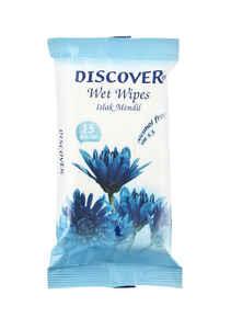 Discover - Discover Islak Mendil 15 li Mavi