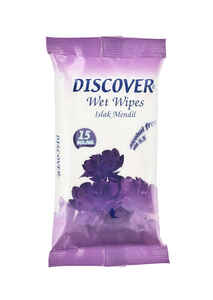 Discover - Discover Islak Mendil 15 li Mor