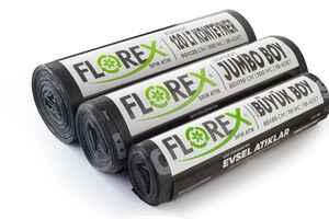 Florex Evsel Atık Çöp Poşeti 80x110 800 GR 10 Rulo - Thumbnail (3)
