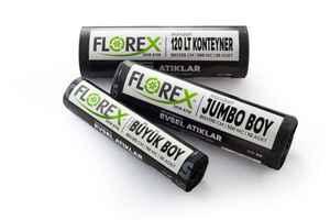 Florex Evsel Atık Çöp Poşeti 80x110 800 GR 10 Rulo - Thumbnail (2)