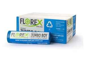Florex - Florex Geri Kazanılabilen Atıklar Çöp Poşeti 80x110 800 GR 10 Rulo