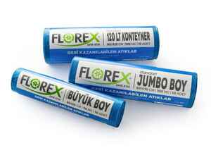 Florex Geri Kazanılabilen Atıklar Çöp Poşeti 80x110 800 GR 10 Rulo - Thumbnail (2)
