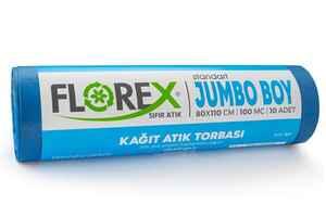 Florex - Florex Kağıt Atık Çöp Poşeti 80x110 800 GR 10 Rulo (1)