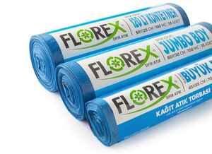 Florex Kağıt Atık Çöp Poşeti 80x110 800 GR 10 Rulo - Thumbnail (2)