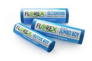 Florex Kağıt Atık Çöp Poşeti 80x110 800 GR 10 Rulo - Thumbnail (3)