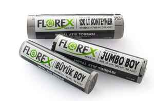 Florex Metal Atık Çöp Poşeti 80x110 800 GR 10 Rulo - Thumbnail (3)