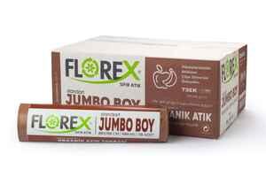 Florex - Florex Organik Atık Çöp Poşeti 80x110 800 GR 10 Rulo