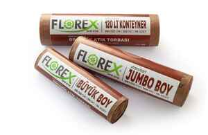 Florex Organik Atık Çöp Poşeti 80x110 800 GR 10 Rulo - Thumbnail (2)