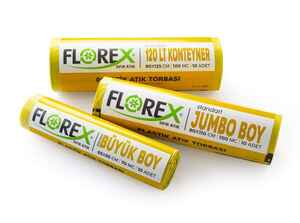 Florex Plastik Atık Çöp Poşeti 80x110 800 GR 10 Rulo - Thumbnail (2)