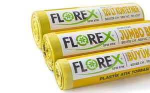 Florex Plastik Atık Çöp Poşeti 80x110 800 GR 10 Rulo - Thumbnail (3)