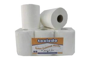 Tooledo - İçten Çekmeli Havlu 6 Rulo