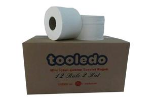Tooledo - Mini İçten Çekmeli Tuvalet Kağıdı 12 Rulo