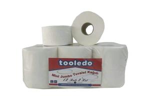Tooledo - Mini Jumbo Tuvalet Kağıdı 12 Rulo