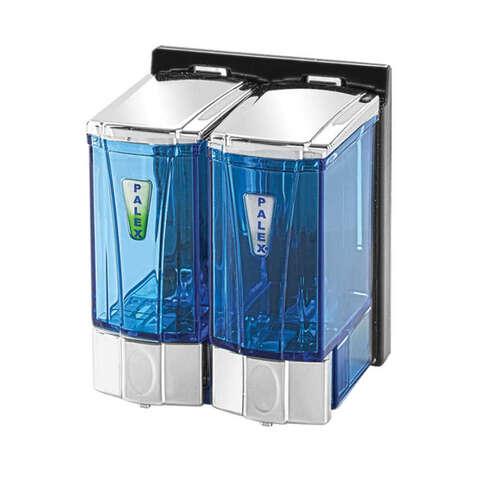 Palex 3564-2 Sıvı Sabun Dispenseri 250x2 CC Şeffaf Krom