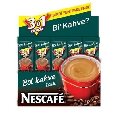 Nescafe - Nescafe 3ü1 Arada Bol Kahveli 48 li Paket