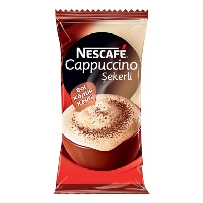 Nescafe - Nescafe Cappucino Şekerli 15 GR 18 li Paket