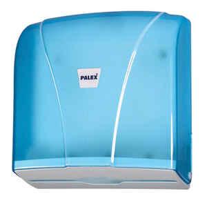 Palex - Palex 3464-1 Z Katlama Kağıt Havlu Dispenseri 300 lü Şeffaf Mavi
