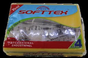 Softtex - Softtex Endüstriyel Bulaşık Süngeri 4 lü